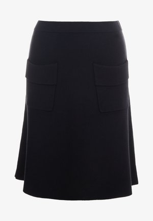 POCKET SKIRT - Spódnica trapezowa - black