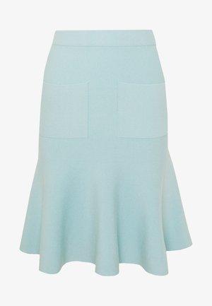 CYNTHIA LOVELY KNIT SKIRT - Pencil skirt - aqua
