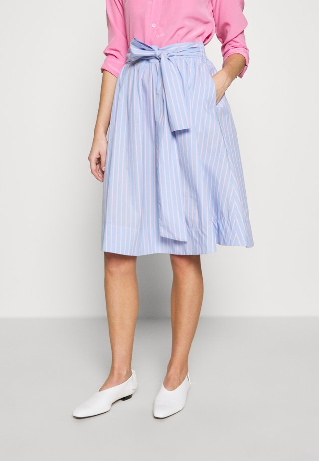 BENITA SKIRT - Spódnica trapezowa - light blue