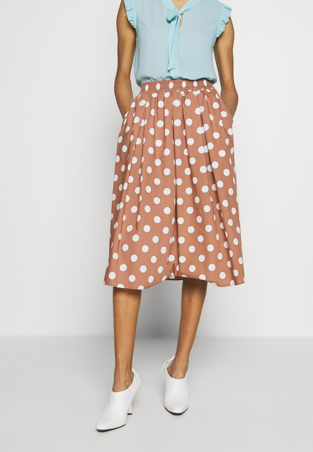 SUMMER DOT SKIRT - A-Linien-Rock - dune