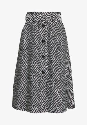 SUMMER SKIRT - Jupe trapèze - black/white