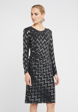 AVENUE GLAM DRESS - Strikket kjole - black