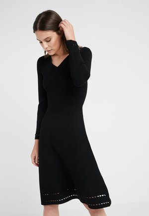 AUDREY LOVELY DRESS - Pletené šaty - black