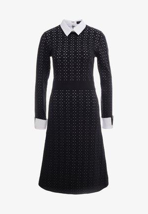 NEW YORK STYLE DRESS - Gebreide jurk - black/white