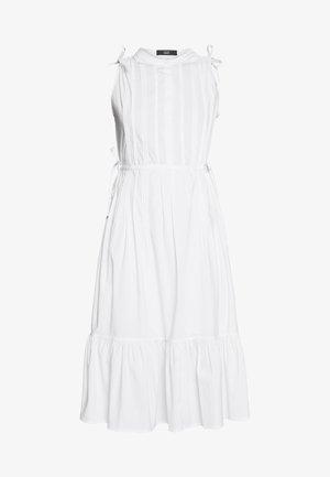 EXCLUSIVE SLEEVELESS BLOUSE DRESS - Denní šaty - white