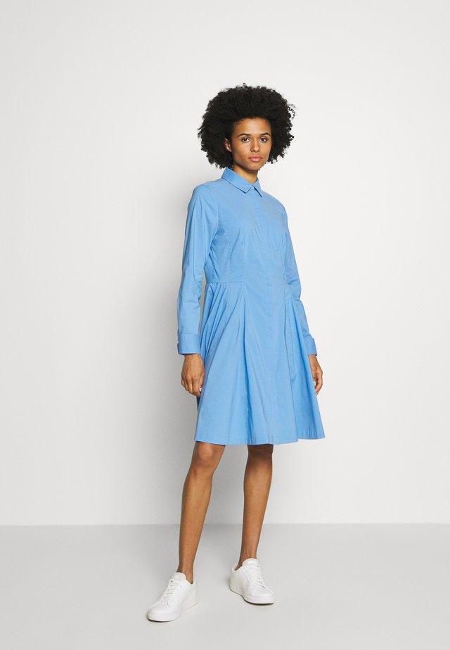 EXCLUSIVE BLOUSE DRESS - Košilové šaty - blue sky