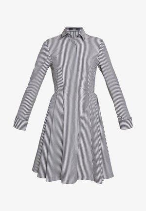 EXCLUSIVE BLOUSE DRESS - Košilové šaty - black/white