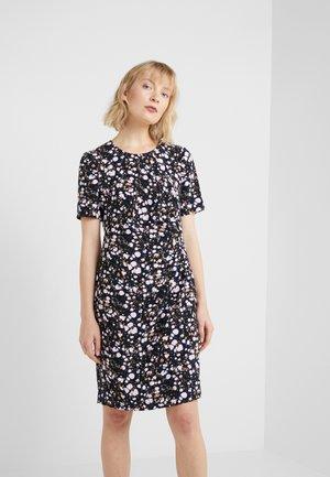 CAROL DRAPE DRESS - Vapaa-ajan mekko - black/pink