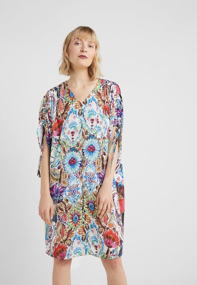 TROPICAL FLOWER TUNIC DRESS - Korte jurk - multi color