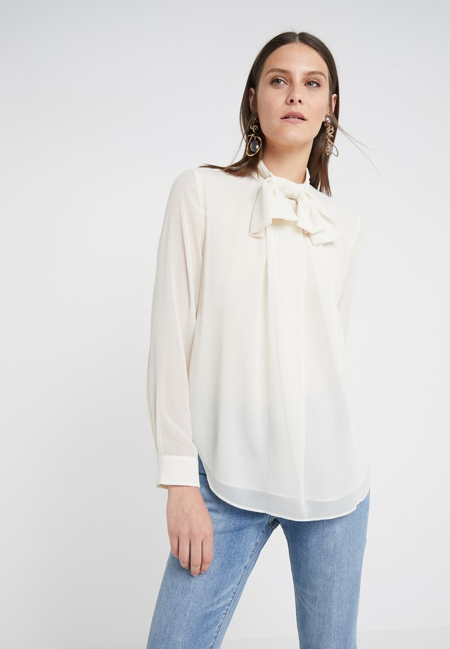 MATHILDE COOL BOW BLOUSE - Bluse - almond