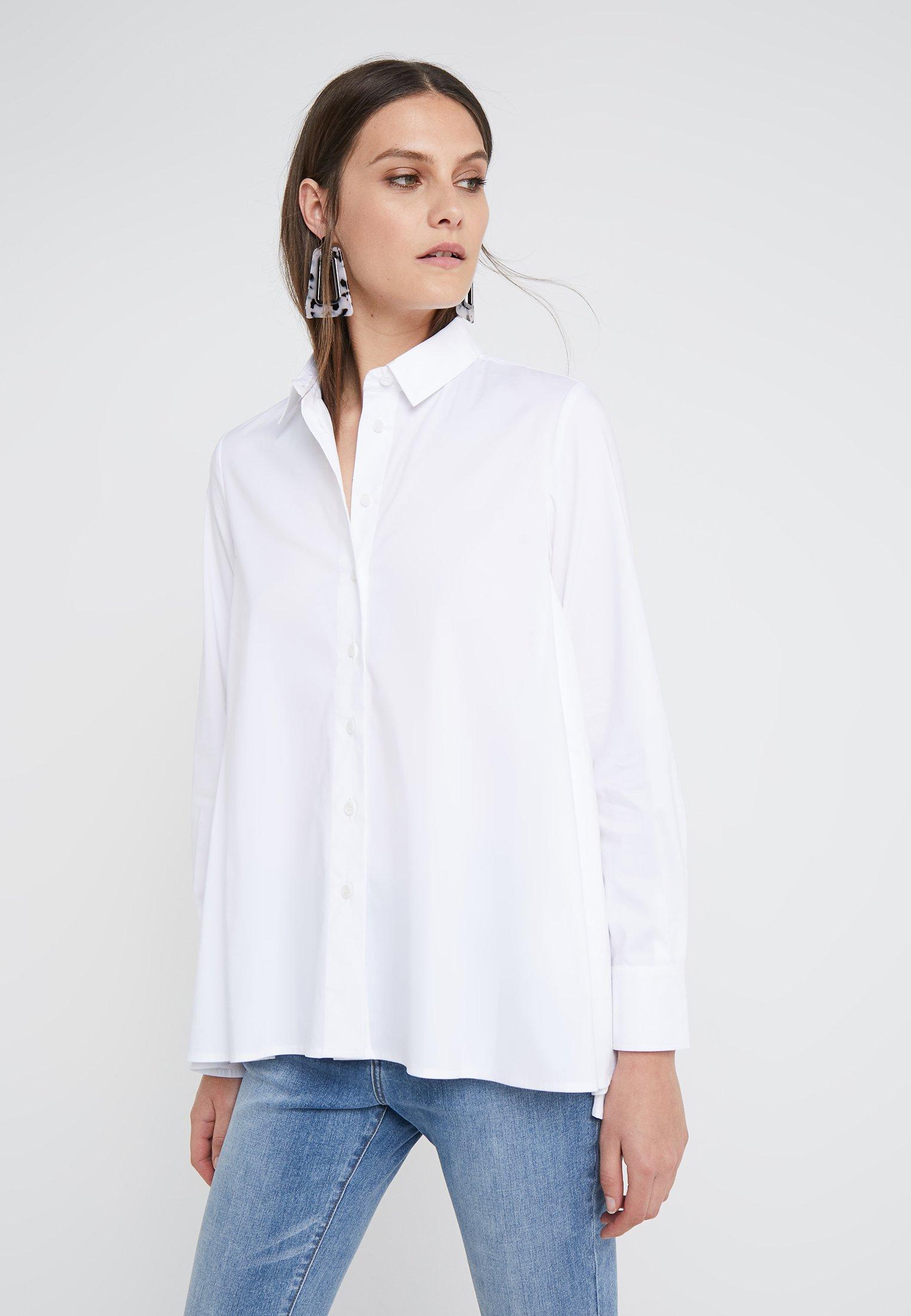 Essential Fashion Schraut White Steffen BlouseChemisier cA354SRjLq
