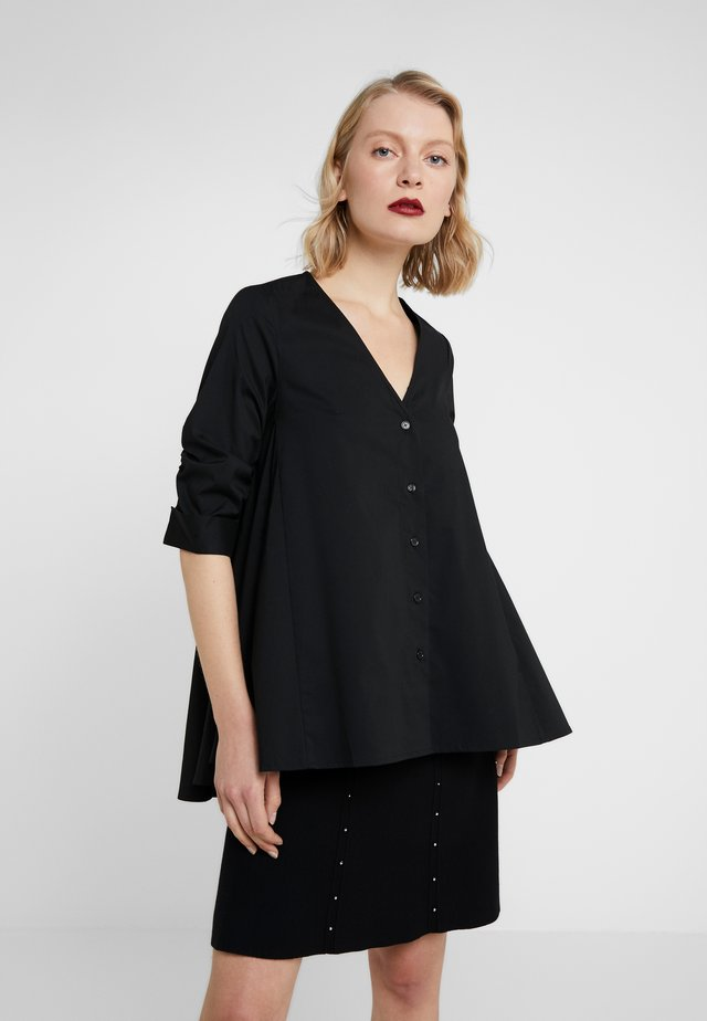 EXCLUSIVE COLARLESS BLOUSE - Bluser - black