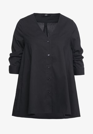 EXCLUSIVE COLARLESS BLOUSE - Blouse - black