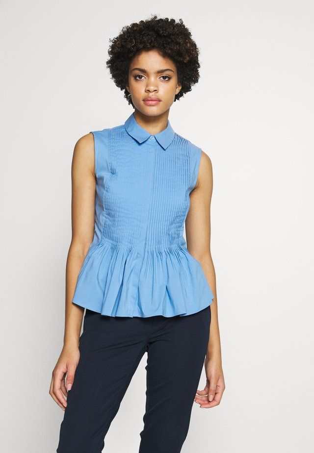 ECXLUSIVE BLOUSE SLEEVELESS - Button-down blouse - blue sky