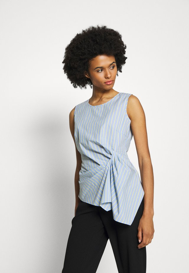 EXCLUSIVE STRIPED DRAPEY BLOUSE TOP - Bluser - acapulco