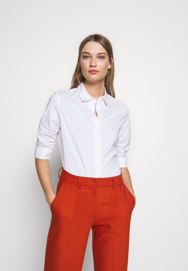 BENITA ESSENTIAL BLOUSE - Button-down blouse - white
