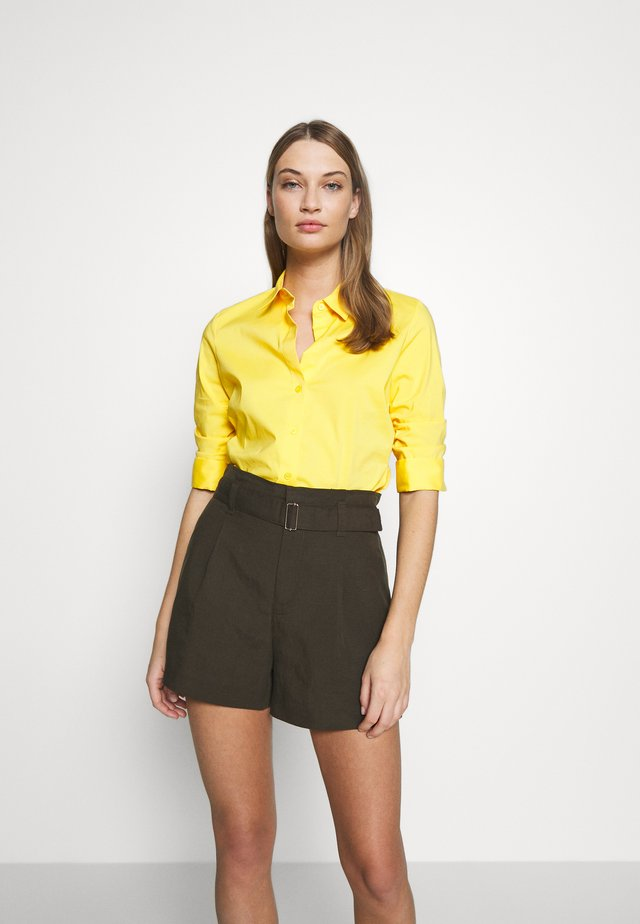 BENITA ESSENTIAL BLOUSE - Button-down blouse - flash yellow