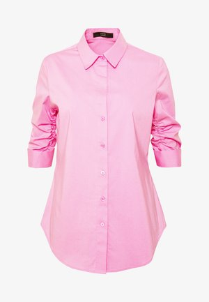 BENITA ESSENTIAL BLOUSE - Button-down blouse - funky berry