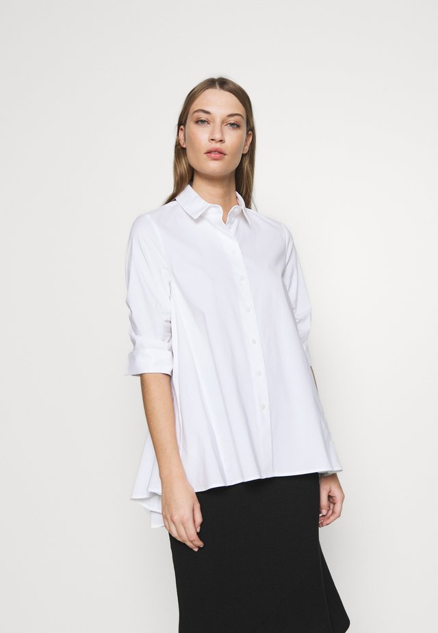 BENITA FASHIONABLE BLOUSE - Button-down blouse - white