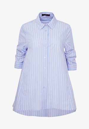 BENITA FASHIONABLE BLOUSE - Button-down blouse - light blue/pink