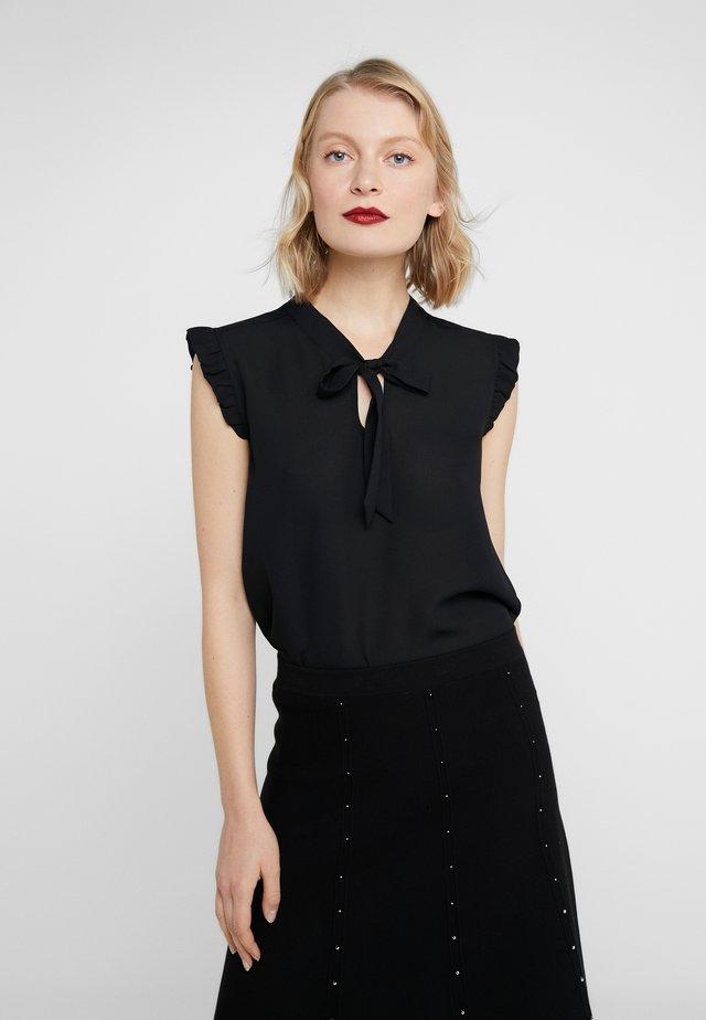 CHARLOTTE RUFFLE SHIRT - Bluse - black