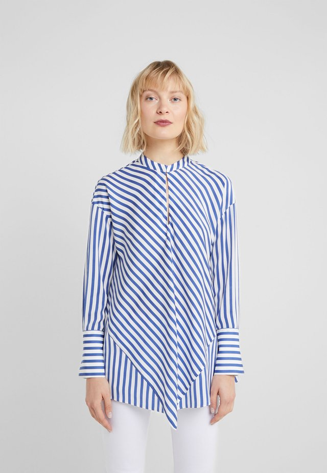 SUMMER HYPE STRIPE BLOUSE - Blouse - cool blue