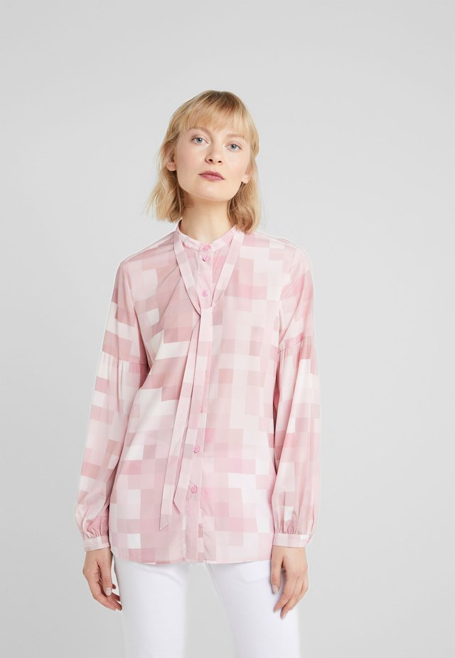 CAROLINE LUXURY BLOUSE - Button-down blouse - pink shades