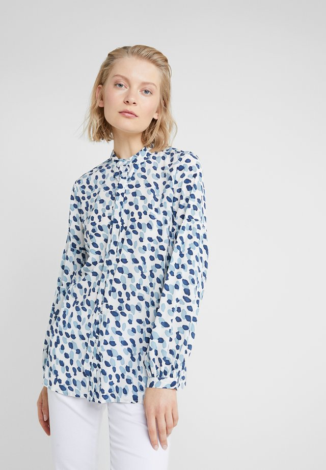 CAROLINE LUXURY BLOUSE - Button-down blouse - blue