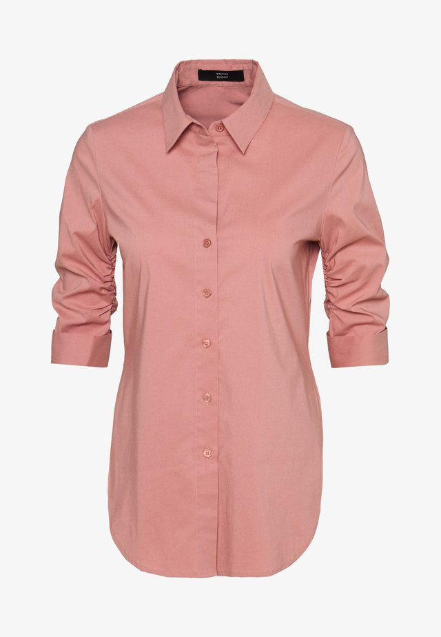 THE ESSENTIAL BLOUSE - Button-down blouse - blush rose