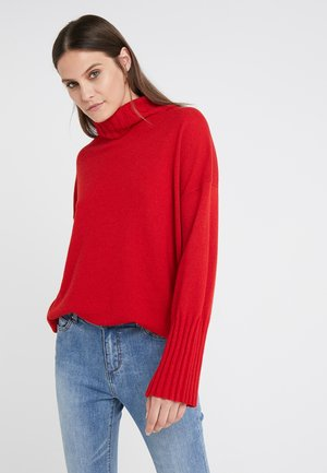 LUXURY WEEKEND ROLL NECK SWEATER - Pullover - rebel red