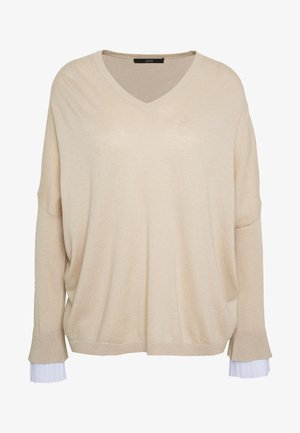 EXCLUSIVE BLOUSE  - Strickpullover - seashell