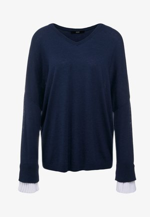 EXCLUSIVE BLOUSE  - Jumper - navy