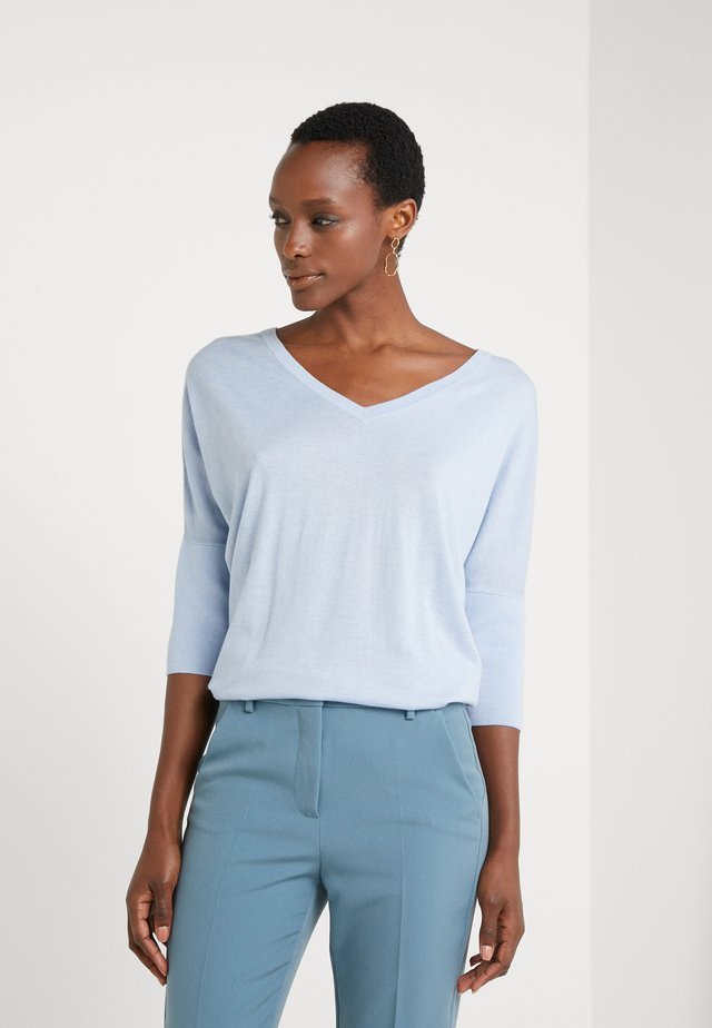 EXCLUSIVE VNECK BLEND - Strickpullover - soft blue