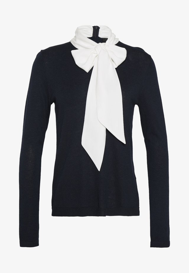 VERONIQUE FASHION BOW - Jumper - dark blue