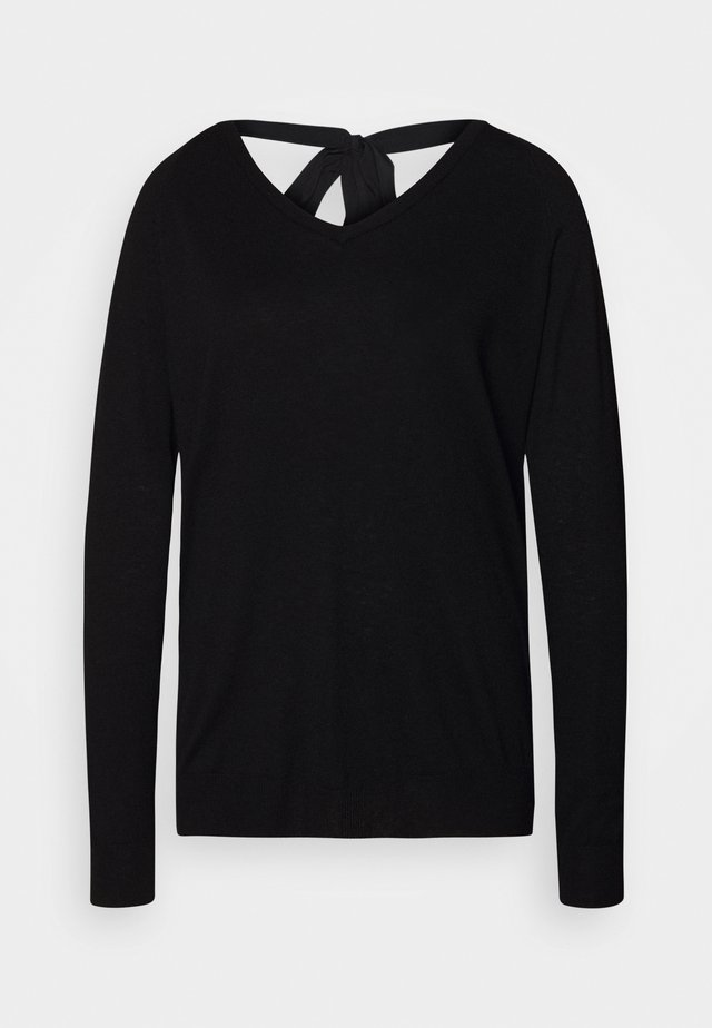VERONIQUE GLAM SWEATER - Jumper - black