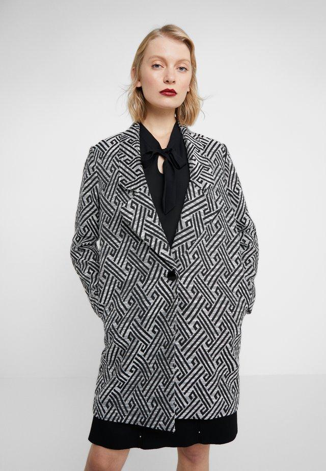 SUMMER JACQUARD COAT - Pitkä takki - black/white