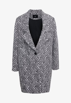 SUMMER JACQUARD COAT - Short coat - black/white