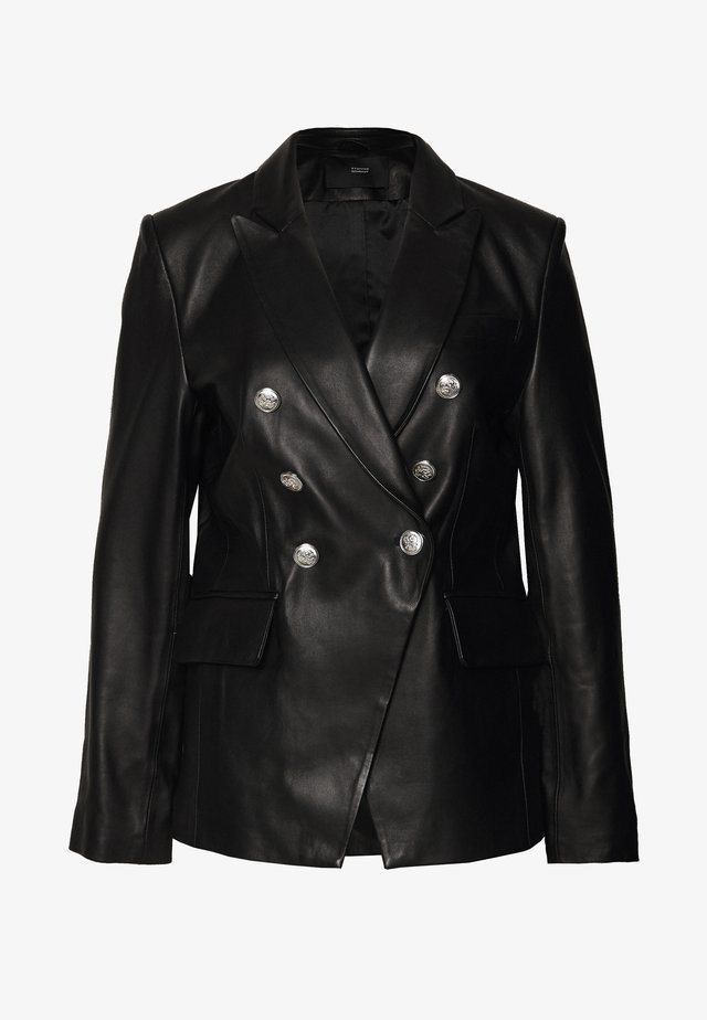 BROOKLYN LUXURY ROCKSTAR  - Leather jacket - black