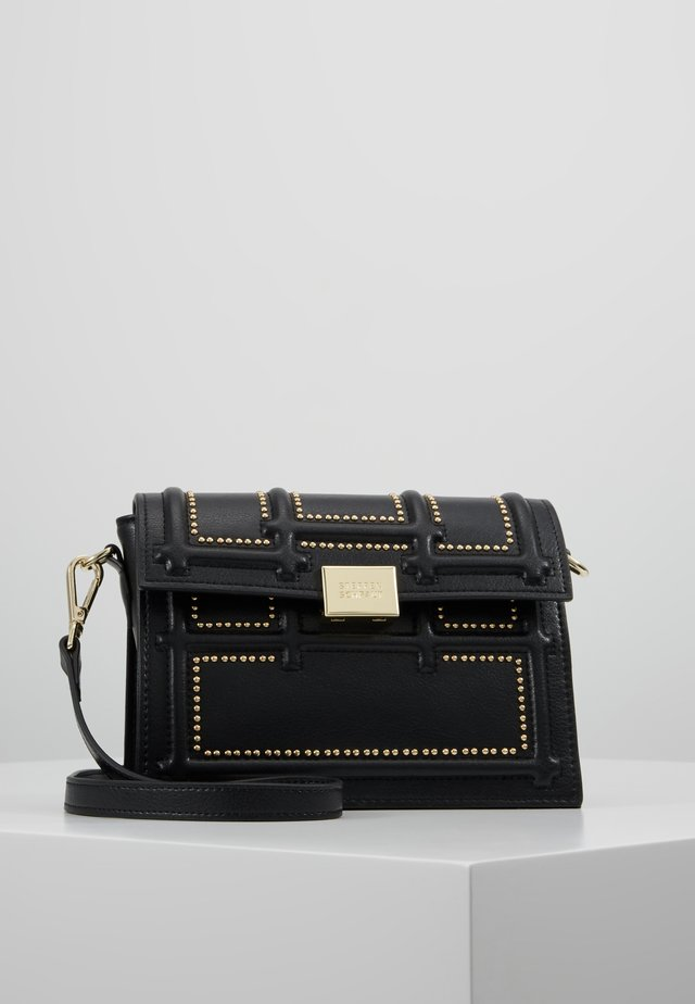 GISELLE - Across body bag - black/gold