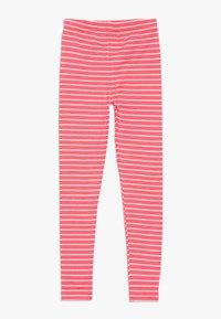 Staccato - STREIFEN KID 2 PACK  - Legging - neon red/dark marine - 1