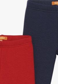 Staccato - KID 2 PACK - Leggings - Trousers - dark marine/bright red - 4