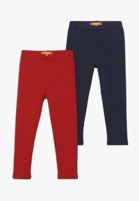 Staccato - KID 2 PACK - Leggings - Trousers - dark marine/bright red - 0