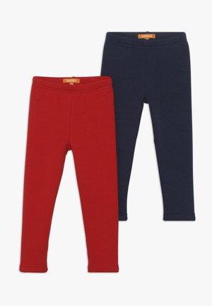 KID 2 PACK - Leggings - dark marine/bright red