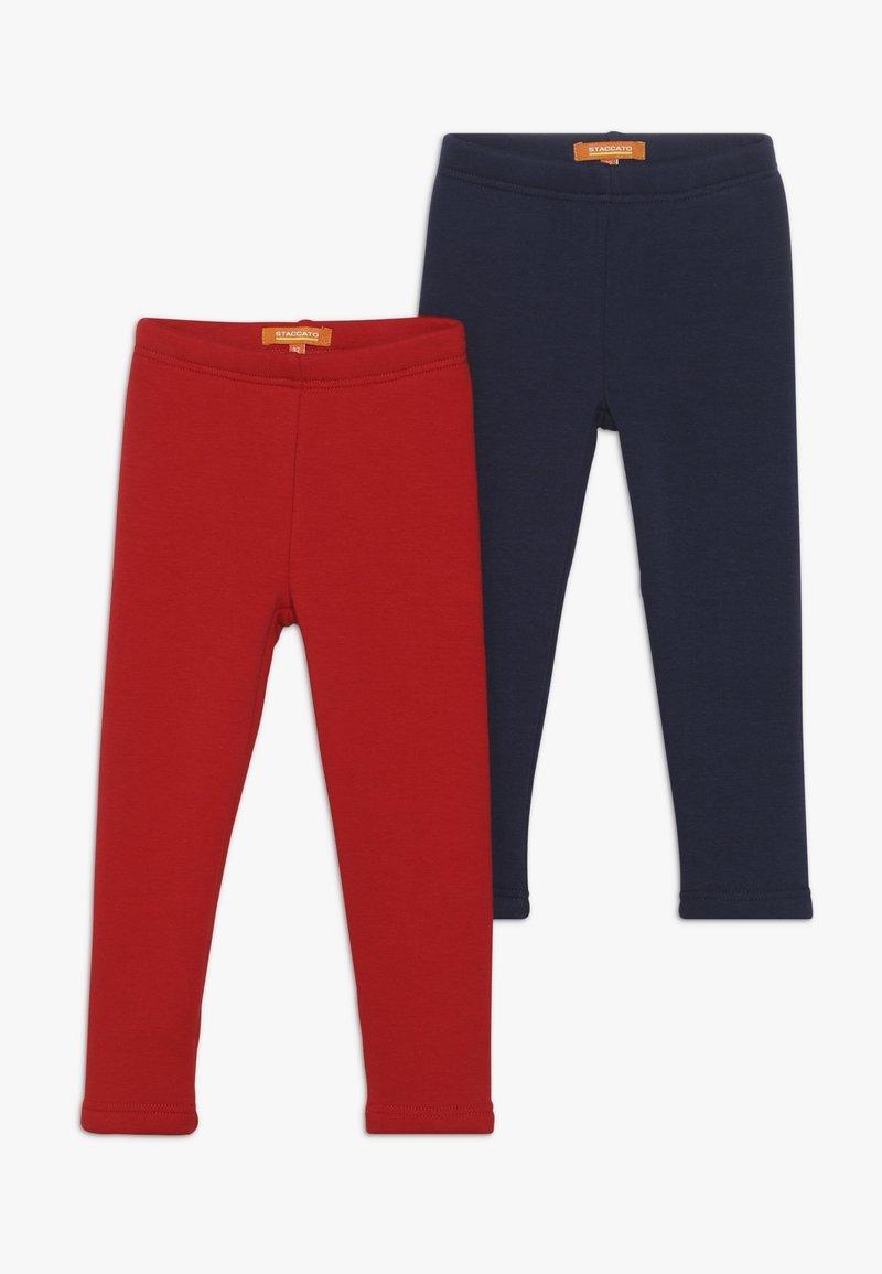 Staccato - KID 2 PACK - Leggings - Trousers - dark marine/bright red