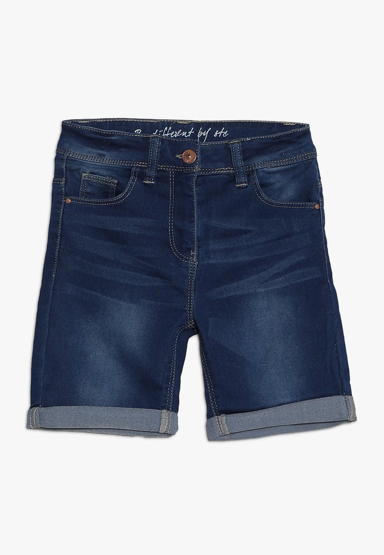 Staccato - BERMUDAS - Shorts vaqueros - mid blue denim