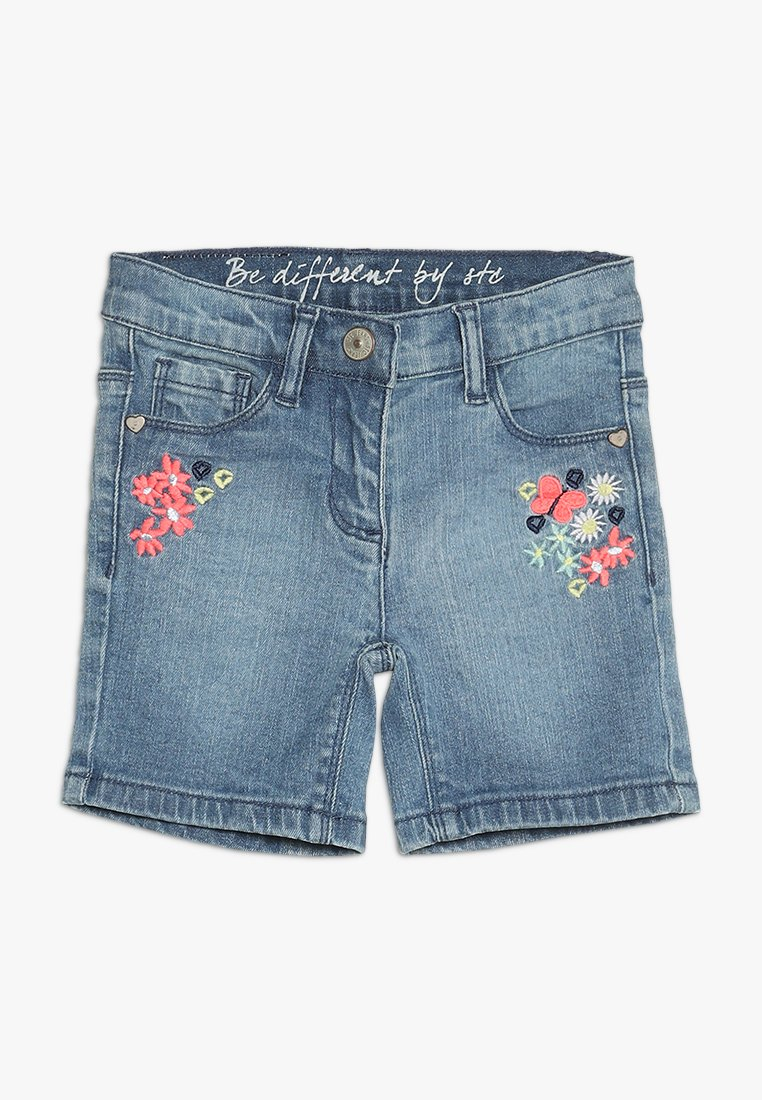Staccato - Jeans Shorts - mid blue denim