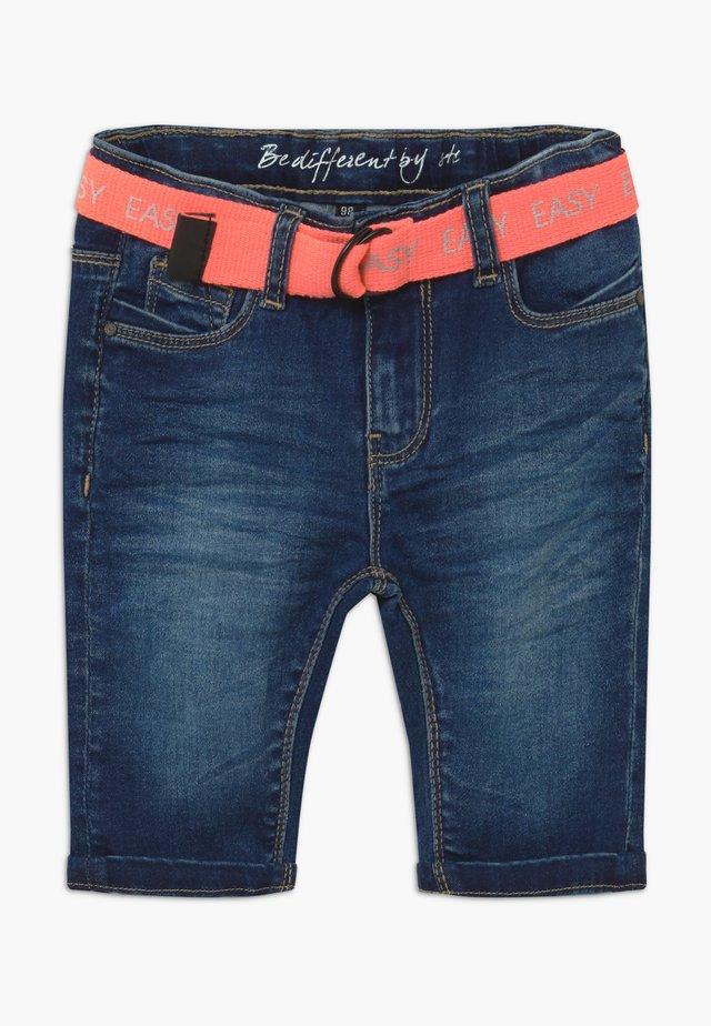 CAPRI KID - Jeansshorts - dark blue denim