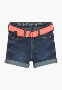 Staccato - KID - Denim shorts - dark blue denim - 0