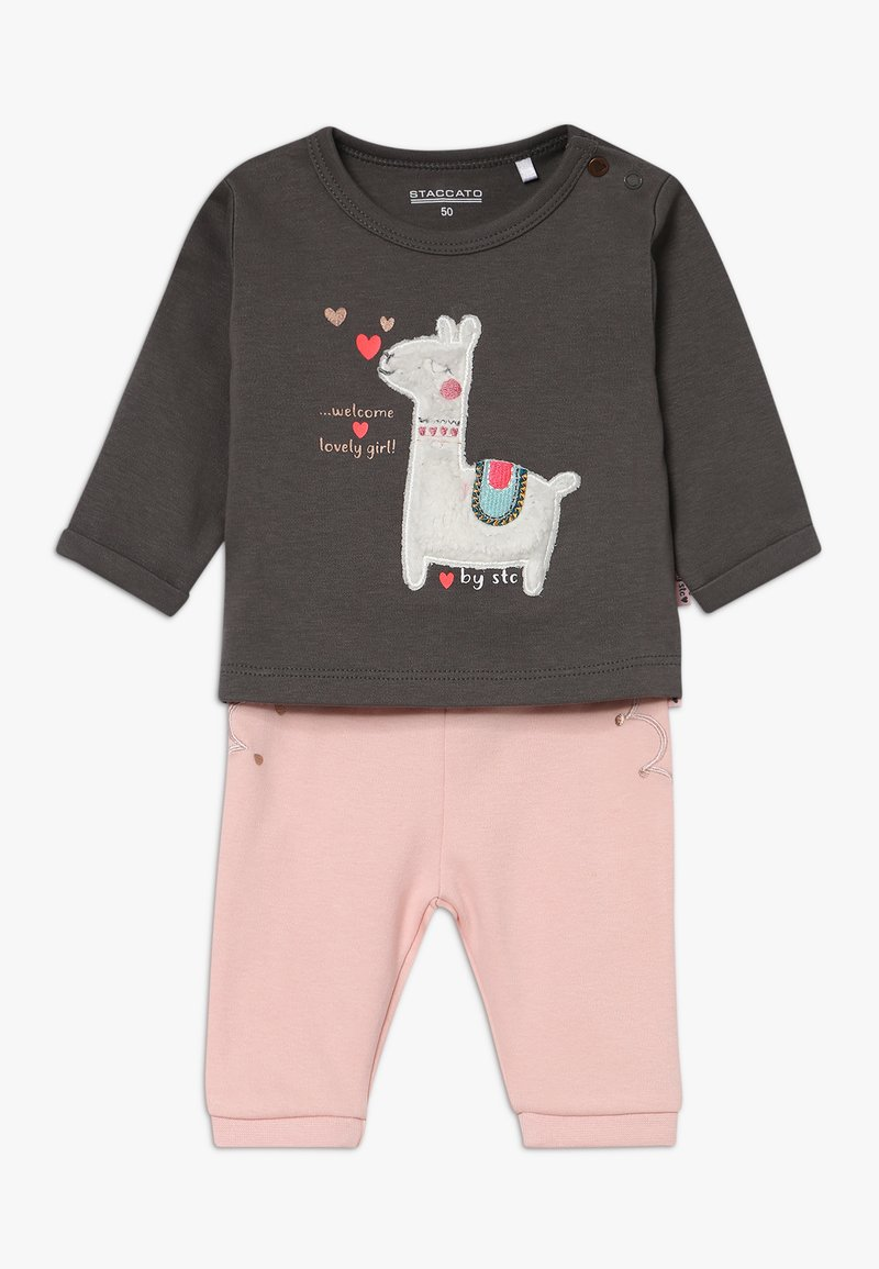 Staccato - LAMA SET BABY - Leggings - Trousers - light pink