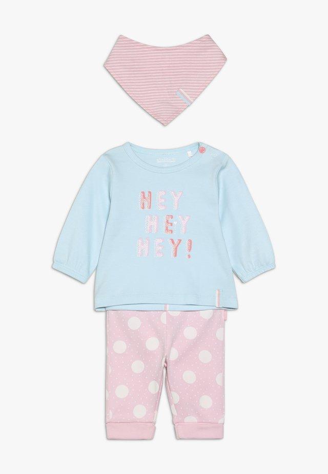 SET - Legíny - mint/light pink